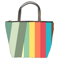 Texture Stripes Lines Color Bright Bucket Bags