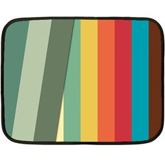 Texture Stripes Lines Color Bright Fleece Blanket (Mini)