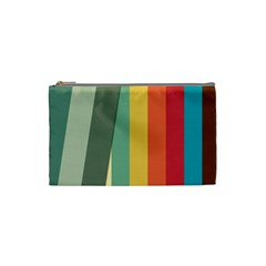 Texture Stripes Lines Color Bright Cosmetic Bag (Small)