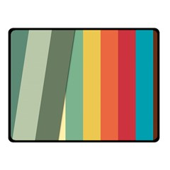 Texture Stripes Lines Color Bright Fleece Blanket (small)