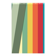 Texture Stripes Lines Color Bright Shower Curtain 48  x 72  (Small)