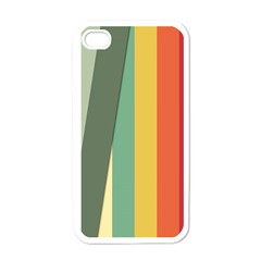 Texture Stripes Lines Color Bright Apple iPhone 4 Case (White)