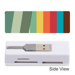 Texture Stripes Lines Color Bright Memory Card Reader (stick)