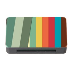 Texture Stripes Lines Color Bright Memory Card Reader with CF