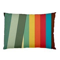 Texture Stripes Lines Color Bright Pillow Case (Two Sides)