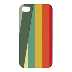 Texture Stripes Lines Color Bright Apple Iphone 4/4s Hardshell Case