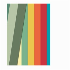 Texture Stripes Lines Color Bright Large Garden Flag (Two Sides)
