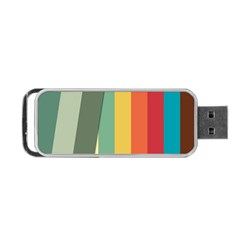 Texture Stripes Lines Color Bright Portable Usb Flash (one Side)