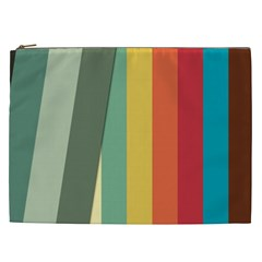Texture Stripes Lines Color Bright Cosmetic Bag (XXL)