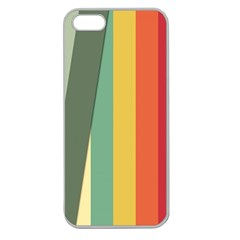 Texture Stripes Lines Color Bright Apple Seamless iPhone 5 Case (Clear)