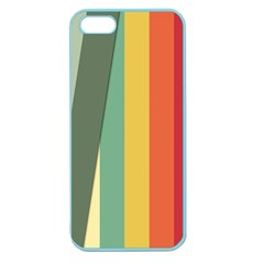 Texture Stripes Lines Color Bright Apple Seamless iPhone 5 Case (Color)