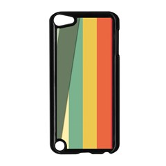 Texture Stripes Lines Color Bright Apple iPod Touch 5 Case (Black)