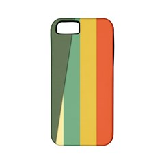 Texture Stripes Lines Color Bright Apple iPhone 5 Classic Hardshell Case (PC+Silicone)
