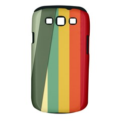 Texture Stripes Lines Color Bright Samsung Galaxy S III Classic Hardshell Case (PC+Silicone)