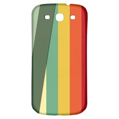 Texture Stripes Lines Color Bright Samsung Galaxy S3 S III Classic Hardshell Back Case