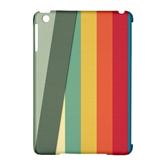 Texture Stripes Lines Color Bright Apple iPad Mini Hardshell Case (Compatible with Smart Cover)
