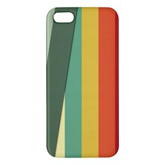 Texture Stripes Lines Color Bright Apple iPhone 5 Premium Hardshell Case