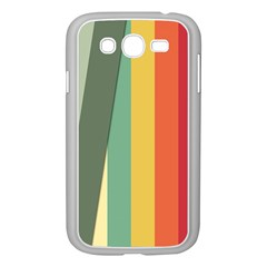 Texture Stripes Lines Color Bright Samsung Galaxy Grand DUOS I9082 Case (White)