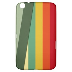 Texture Stripes Lines Color Bright Samsung Galaxy Tab 3 (8 ) T3100 Hardshell Case