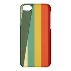 Texture Stripes Lines Color Bright Apple iPhone 5C Hardshell Case