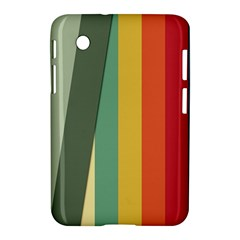 Texture Stripes Lines Color Bright Samsung Galaxy Tab 2 (7 ) P3100 Hardshell Case