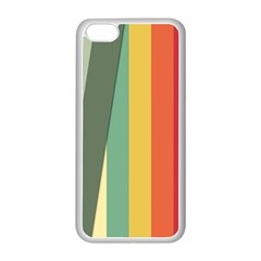 Texture Stripes Lines Color Bright Apple iPhone 5C Seamless Case (White)