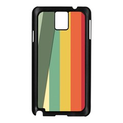 Texture Stripes Lines Color Bright Samsung Galaxy Note 3 N9005 Case (Black)
