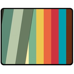 Texture Stripes Lines Color Bright Double Sided Fleece Blanket (Medium)