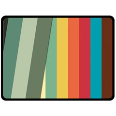 Texture Stripes Lines Color Bright Double Sided Fleece Blanket (Large)