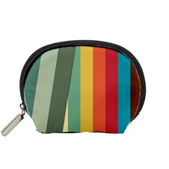 Texture Stripes Lines Color Bright Accessory Pouches (Small)