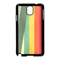 Texture Stripes Lines Color Bright Samsung Galaxy Note 3 Neo Hardshell Case (black)