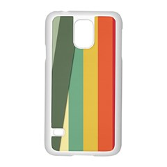 Texture Stripes Lines Color Bright Samsung Galaxy S5 Case (White)