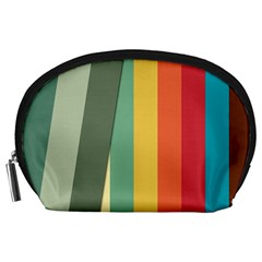 Texture Stripes Lines Color Bright Accessory Pouches (Large)