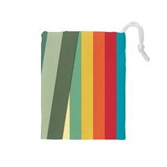 Texture Stripes Lines Color Bright Drawstring Pouches (Medium)