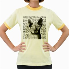 Sphynx cat Women s Fitted Ringer T-Shirts