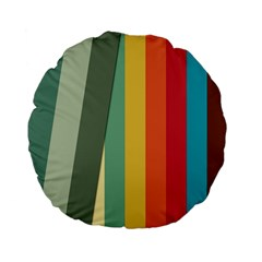 Texture Stripes Lines Color Bright Standard 15  Premium Flano Round Cushions