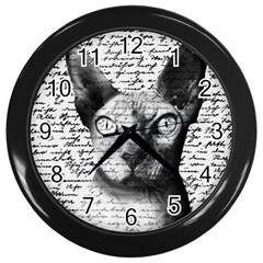 Sphynx cat Wall Clocks (Black)