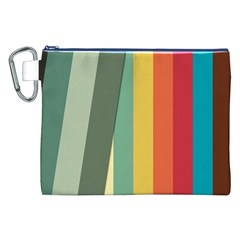 Texture Stripes Lines Color Bright Canvas Cosmetic Bag (XXL)