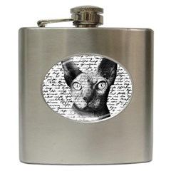 Sphynx cat Hip Flask (6 oz)