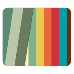 Texture Stripes Lines Color Bright Double Sided Flano Blanket (Small)