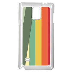 Texture Stripes Lines Color Bright Samsung Galaxy Note 4 Case (White)
