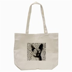 Sphynx cat Tote Bag (Cream)