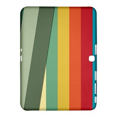 Texture Stripes Lines Color Bright Samsung Galaxy Tab 4 (10.1 ) Hardshell Case