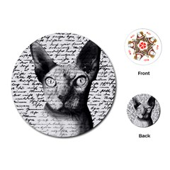 Sphynx cat Playing Cards (Round)