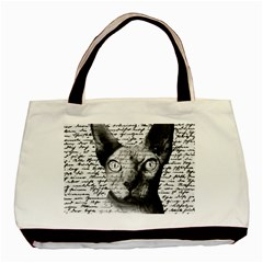Sphynx cat Basic Tote Bag (Two Sides)