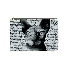 Sphynx cat Cosmetic Bag (Medium)