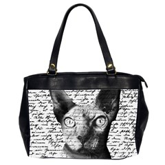 Sphynx cat Office Handbags (2 Sides)