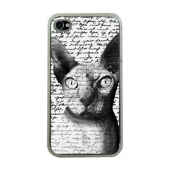 Sphynx cat Apple iPhone 4 Case (Clear)