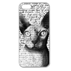 Sphynx cat Apple Seamless iPhone 5 Case (Clear)
