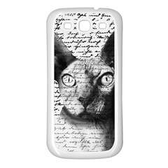 Sphynx cat Samsung Galaxy S3 Back Case (White)
